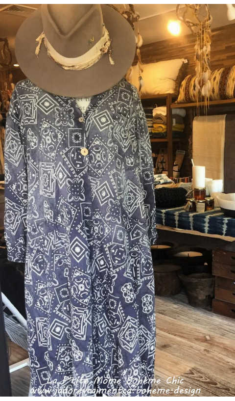 Hudson Smockdress with Pockets, Mixed Buttons and Patches