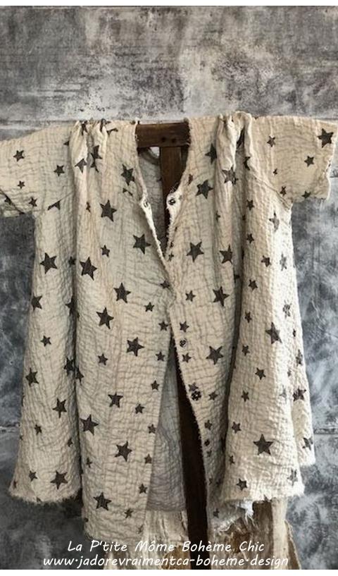 Kimi Galaxy Manteau En Rockstar...Coton & lin à Pois....Je l'adore