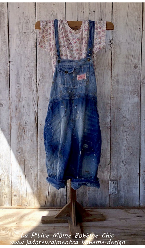 Frankie Overall's in Denim Art Class Jeans