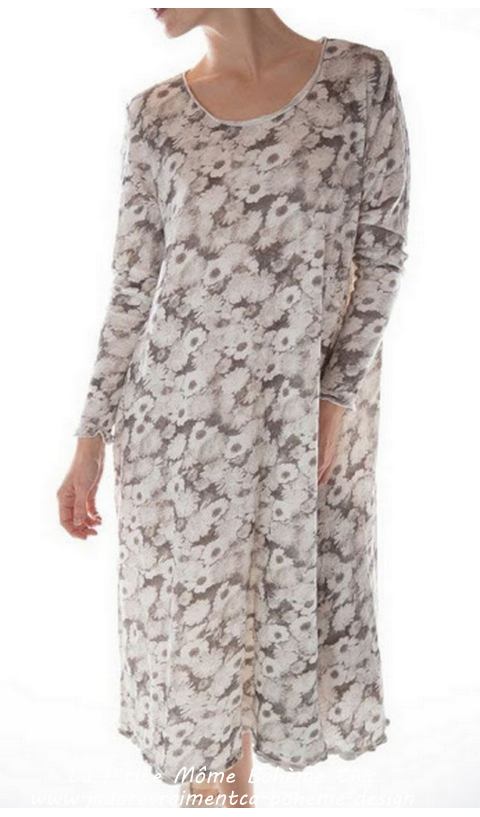 Dylan T Dress in Happy's Flower'sr Cotton Jersey