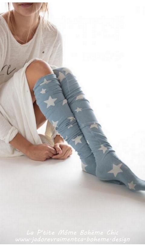 Texas Sky over knees socks
