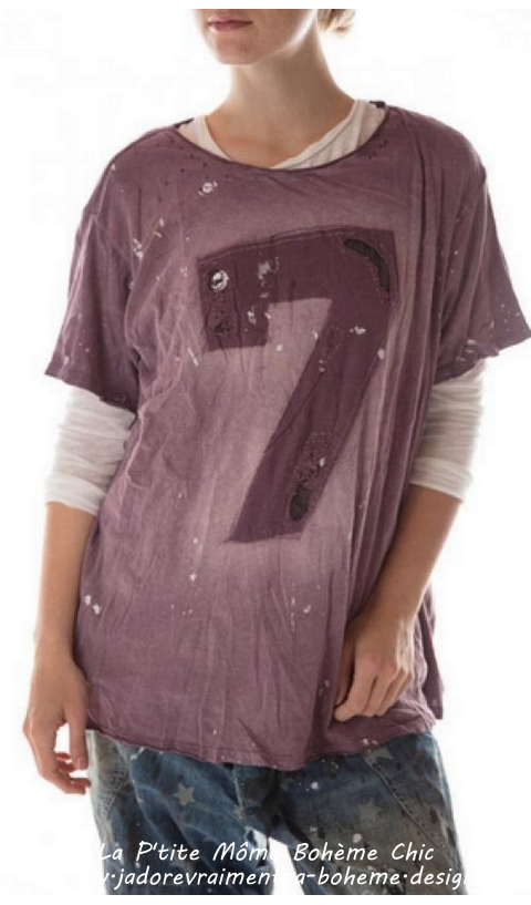 New Boyfriend Tee Purple rain