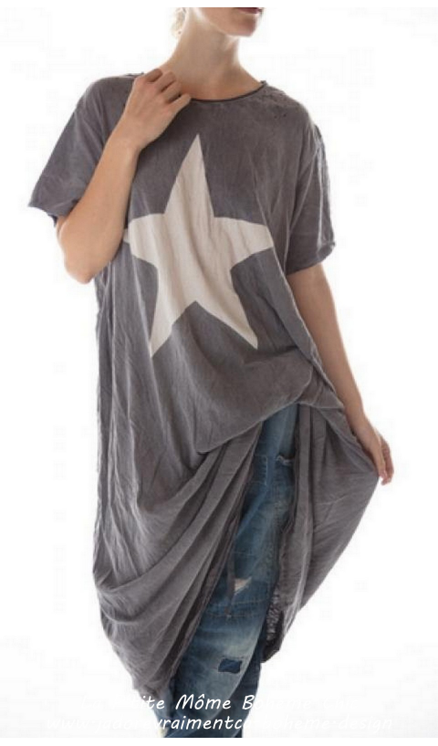 Star Diamond Robe Tee en Ozzy Coupe Boyfriend