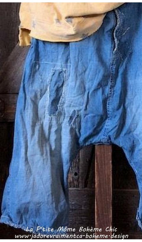 Mister Jeans en Indigo..Vieilli main à patch et fermeture éclaire