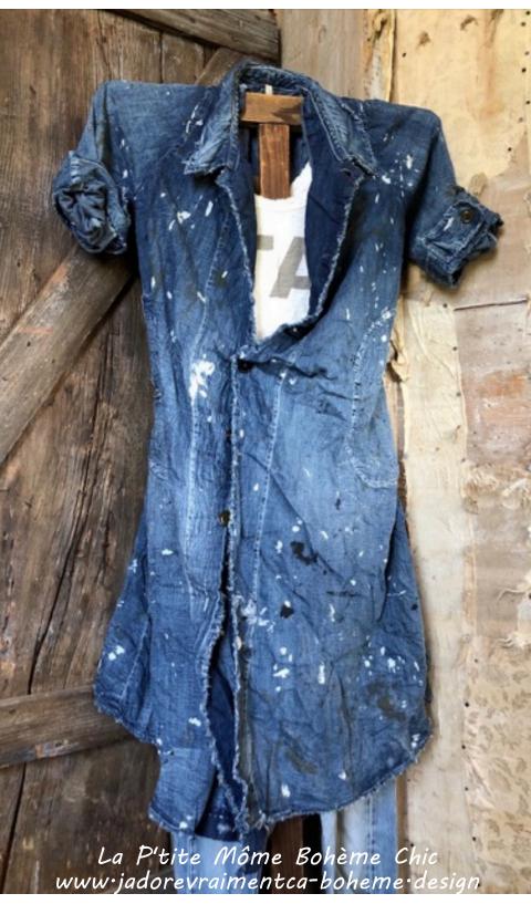 Wells Painters Smock Coat in Linen Cinch Belt & Pockets