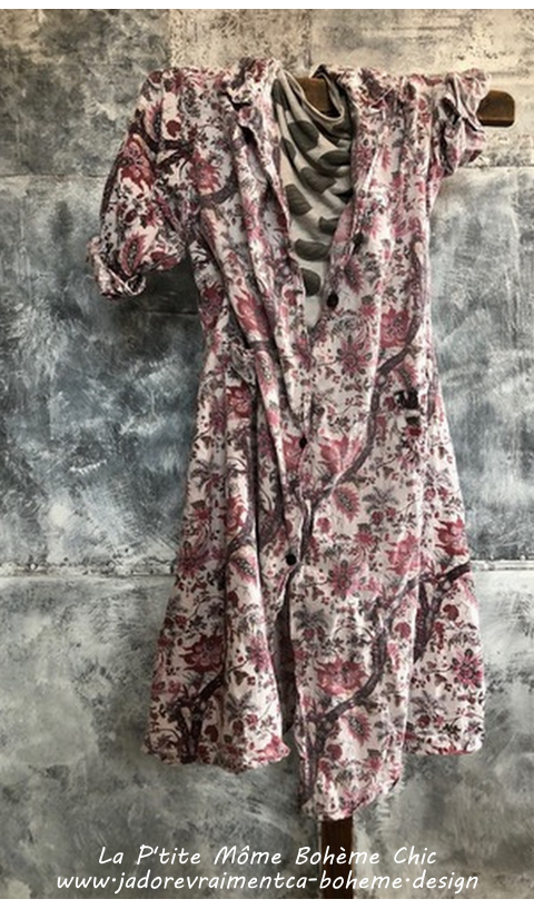 Hudson Smock dress In Milly with Pockets,