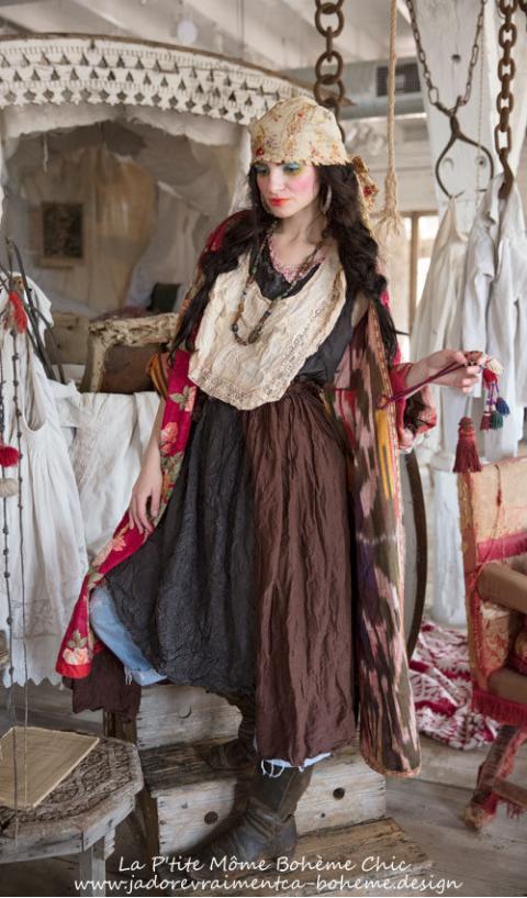 Jemma......Une belle Robe en Soie...Bohème