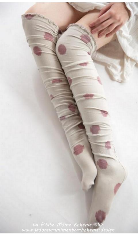 Karolina socks, Over knees in Tokyo