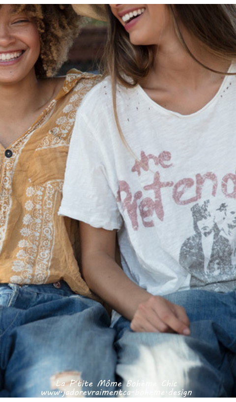 Pretenders Tee-Shirt en True Coupe Boyfriend