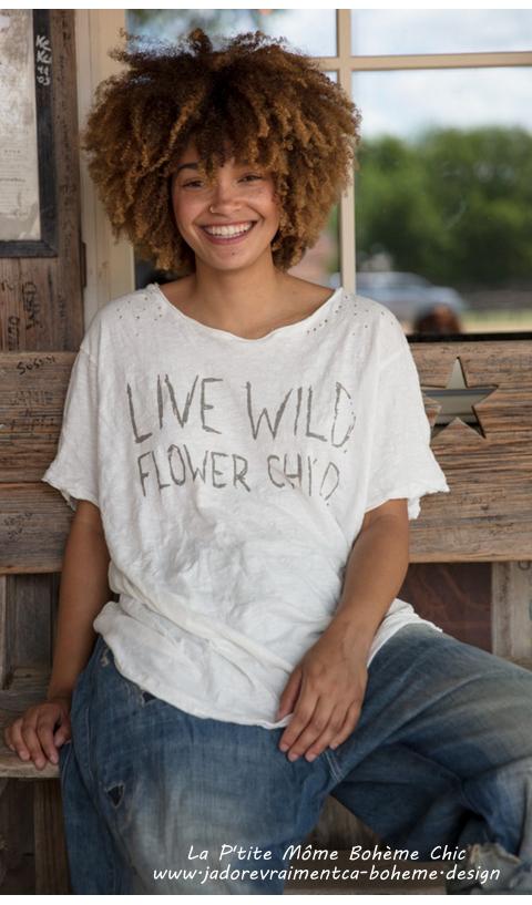 Live Wild Tee-Shirt-Vie Sauvage La Môme Des Fleurs