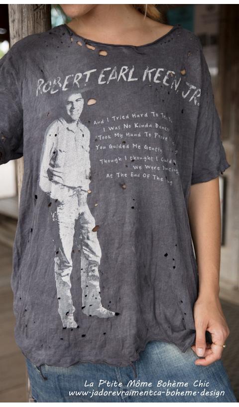 Robert Earl Keen Tee-Shirt Ozzy Coupe Boyfriend