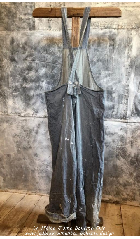 Gus Overall's Denim In Chalkboard With Hand Aging