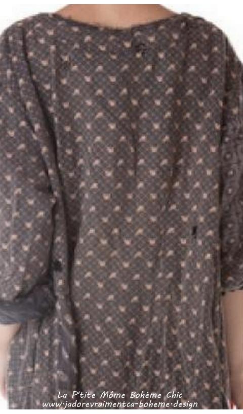 Twill-Daveney Robe en Tea roses