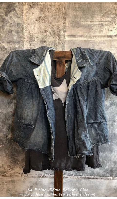 Denim Bijou Swing Jacket In Indigo....Adorable