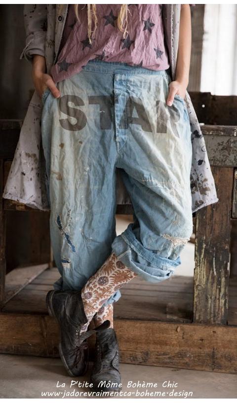 Sanforized Denim Jeans Bold-STAR La Star Des Star Vieilli Mains
