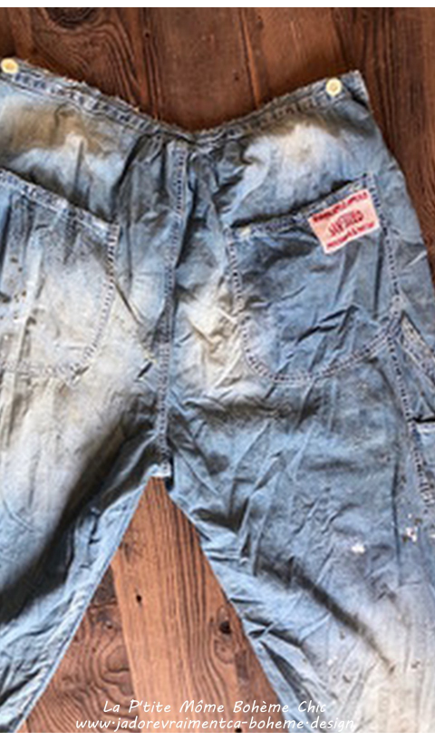 Sanforized Denim Jeans Bold-STAR Mending and Hand Aging