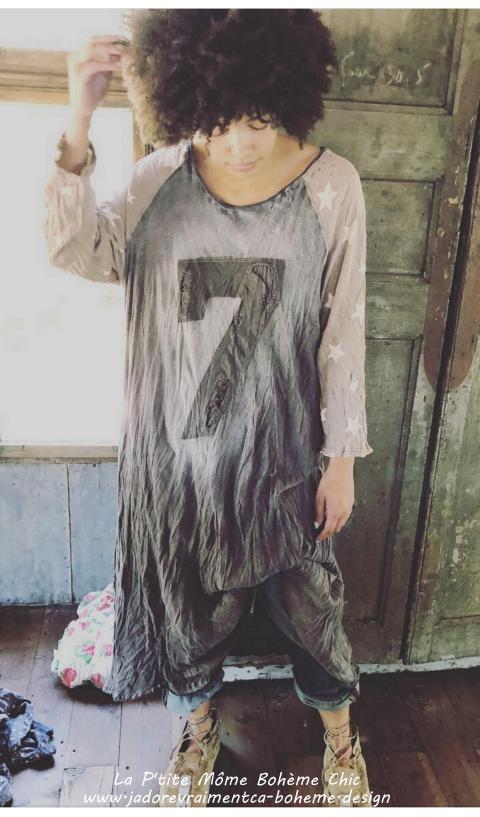 Bolt Lucky Robe Tee Shirt Vega Manches Etoiles 3/4