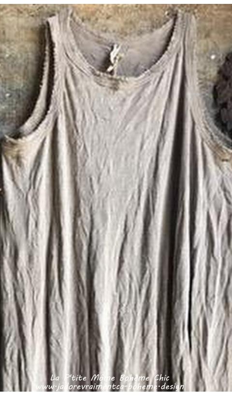 Ari-Rétro Une Robe Clay Coupe Rétro Sans Manches