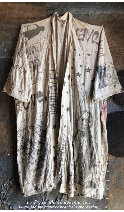 Teemono Art Graphic  Kimono ou Redingote En Moonlight