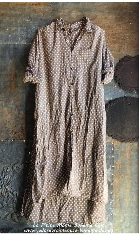 Adison Dress in Jamison Mixed Buttons and Hand Mending