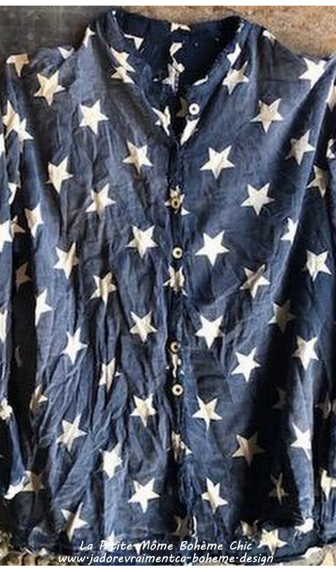 Twill Thea Chemise en Betsy-Ross Manches Longues Avec Volant