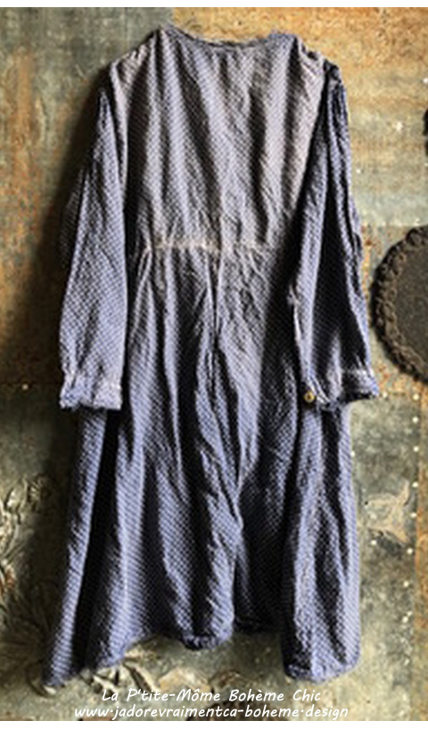 Twill St Anny Smock Dress with Lace Detailing and Buttons, Sunfading