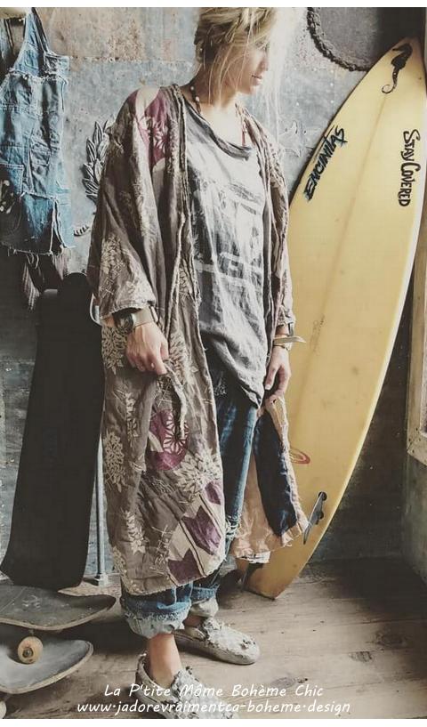 Baja-Surf-Tee-Shirt-Ozzy En Coupe Boyfriend
