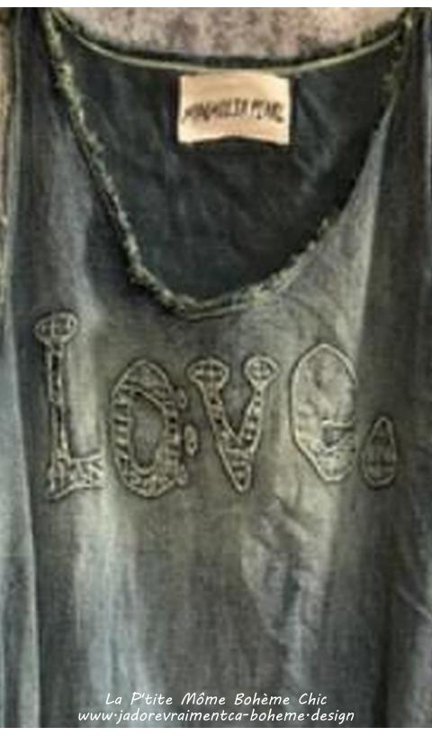 Layla Robe Love Denim En Washed Indigo On Adore