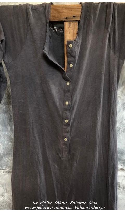 Birch-Robe-T-Shirt En Ozzy Coton Jersey à Manches 3/4