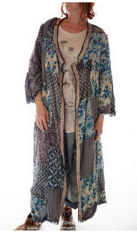 Emporium Coat In Vagabond Patchwork With Sunfading