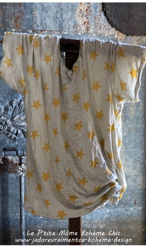 New Boyfriend Cut In Krishna Stars Mending with Hand Distressing, and Patching