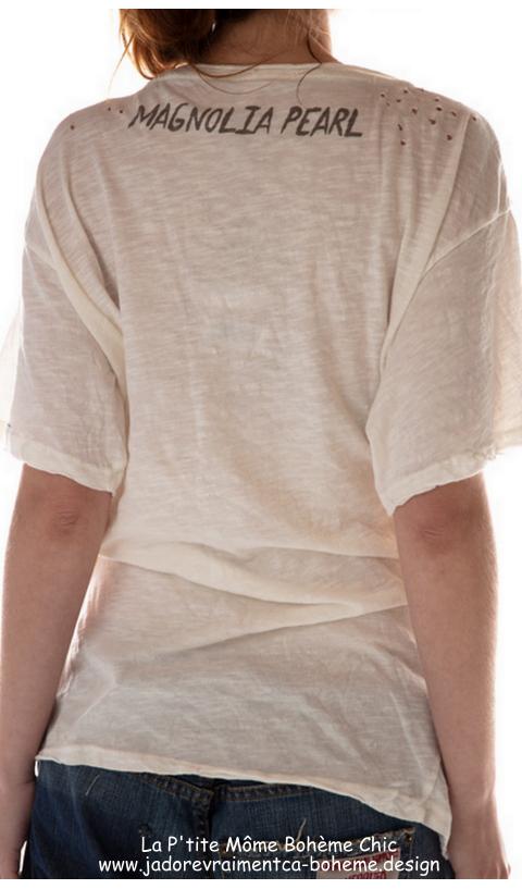Zig-Zag T Shirt En Amsterdam Imprimé Coupe Boyfriend