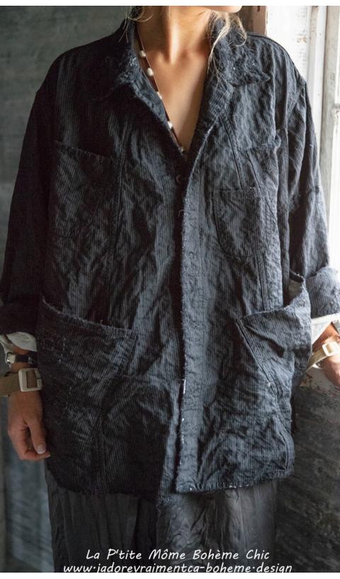 Aelvoet fine wool in Pinstripe