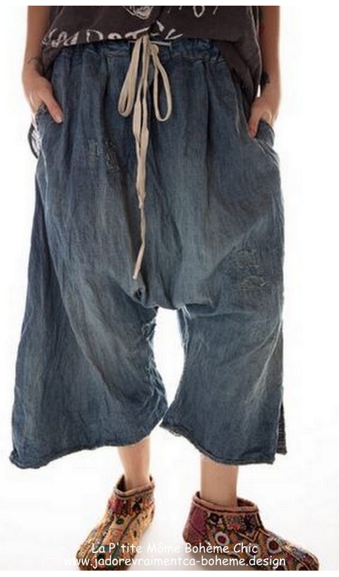 Jai Wide Leg Trouser in washed indigo