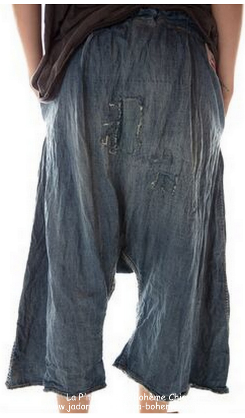 Jai Wide Leg -Panta washed indigo