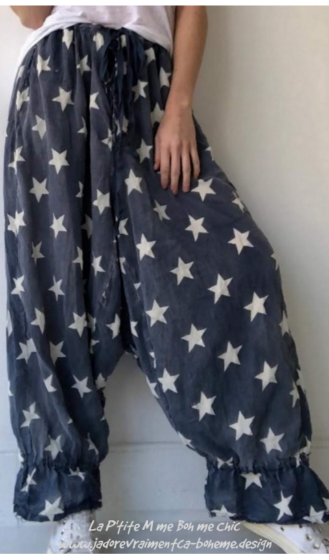 Twill Betsy Ross Bloomers with Sunfading, Drawstring Waist and Gathered Leg,