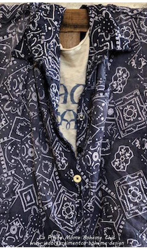 Adison Work-shirt en Waylon(graphic)  à l'ancienne....il est Top