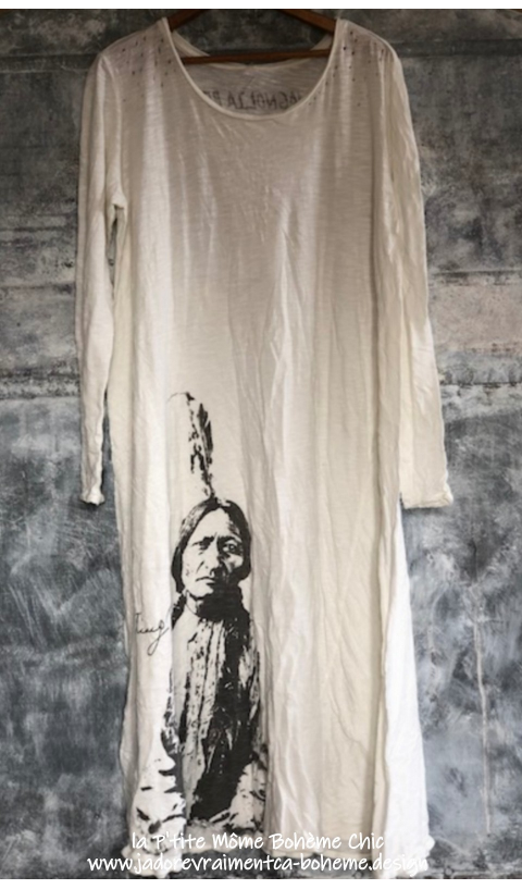 Sitting Bull Tee-Dress In True
