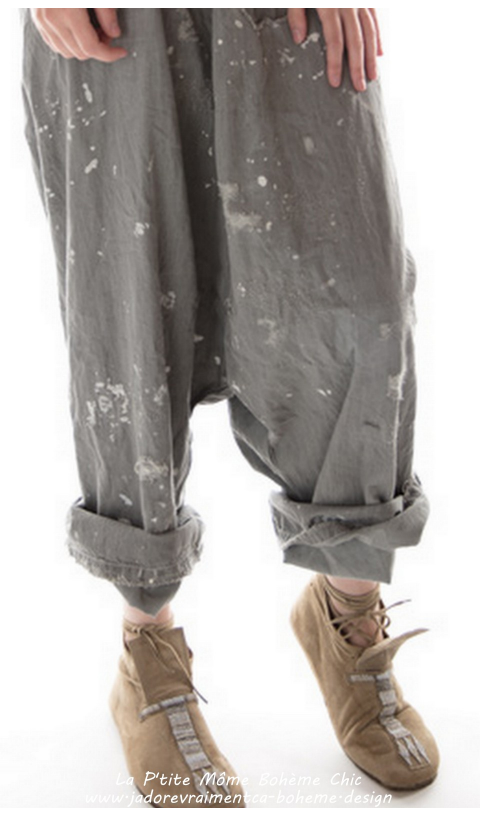 Gus pants Denim In Chalkboard With Hand Aging