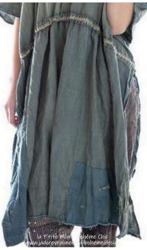 Kaftan Robe Denilm En Washed Indigo...Une Mervaille