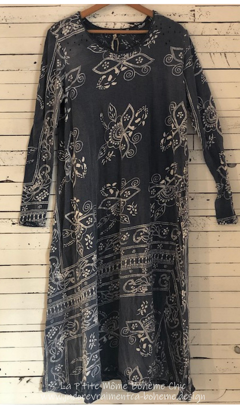 Bali Dylan T Dress Indigo Hand Block Print