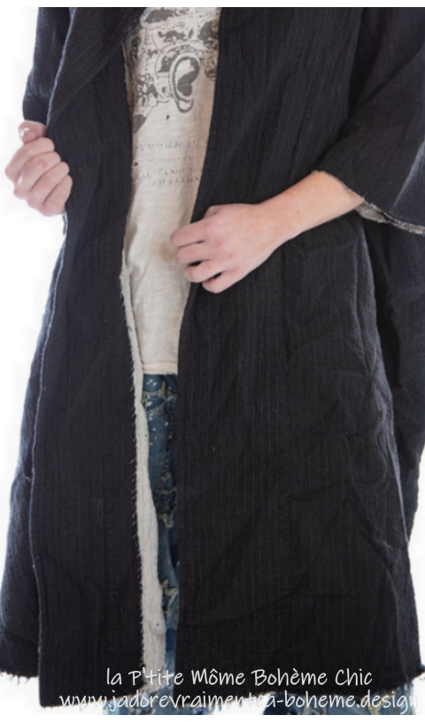 Kimi en Laine Fine en Pinstripe Modèle évasé, Très Féminin