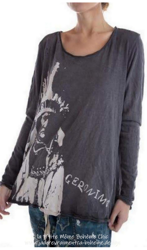 Geronimo Dylan T-Top In Ozzy Blockprinted