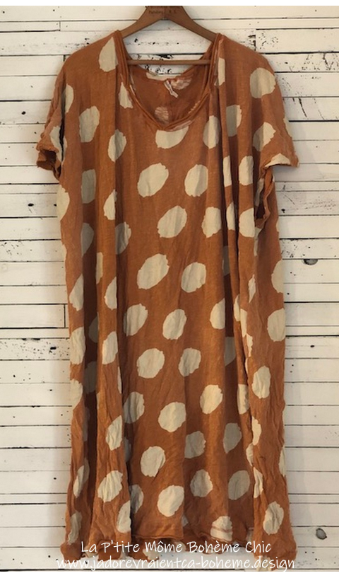 Beau T-Dress in Apache with Big Dots Loooove This one