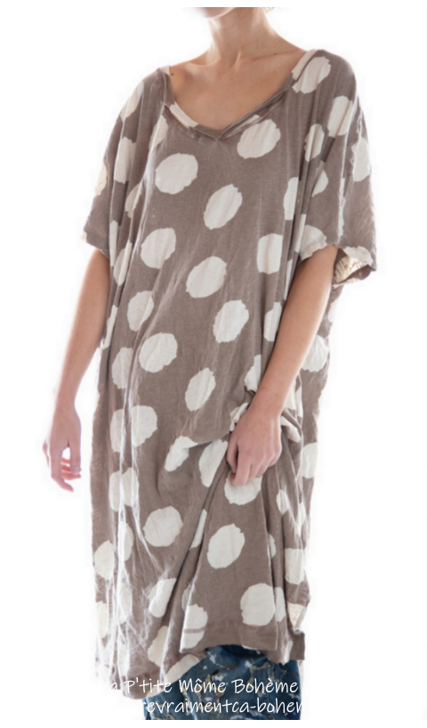 Beau T-Dress in Fawn with Big Dots Loooove This one