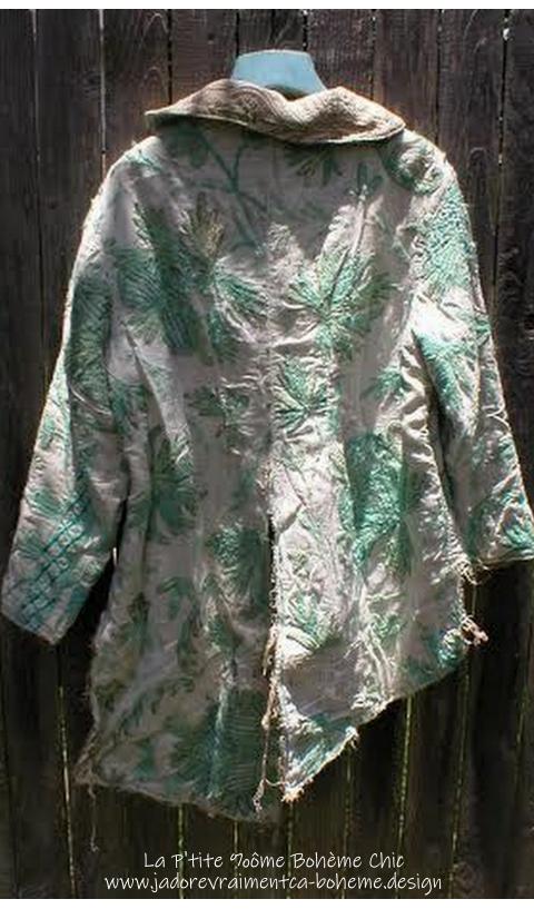 Pièce Unique Tuxedo Manteau Tissu Ancien Ameublement De Luxe
