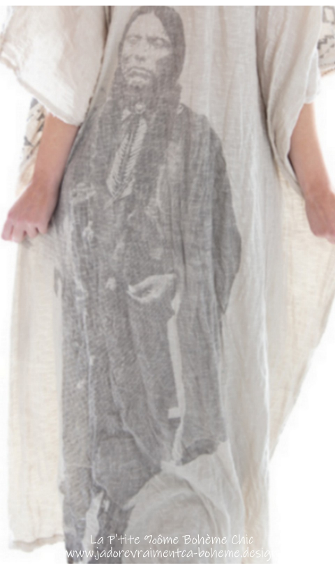 Veda Kaftan Robe En Moonlight Quanah Parker en Coton Soyeux A-Do-RA-Ble