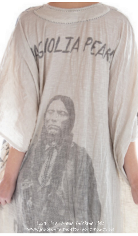 Veda Kaftan Dress in Moonlight Quanah Parker Hand Printed