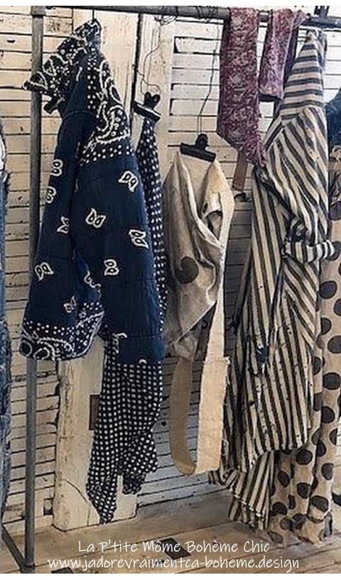 Asa Silas Bandana Puff Jacket In Boro with Fading
