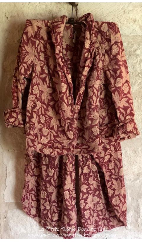 Sidra Tuxedo in Kaedee...Snaps & Cotton Lining